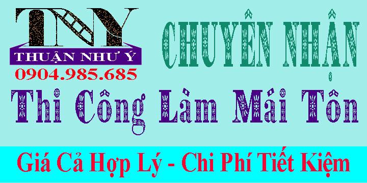 Làm Mái Tôn Sân Thượng Tại TPHCM giá rẻ