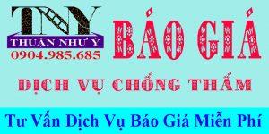 Báo giá dịch vụ chống thấm tại TPHCM, Bình Dương, Đồng Nai