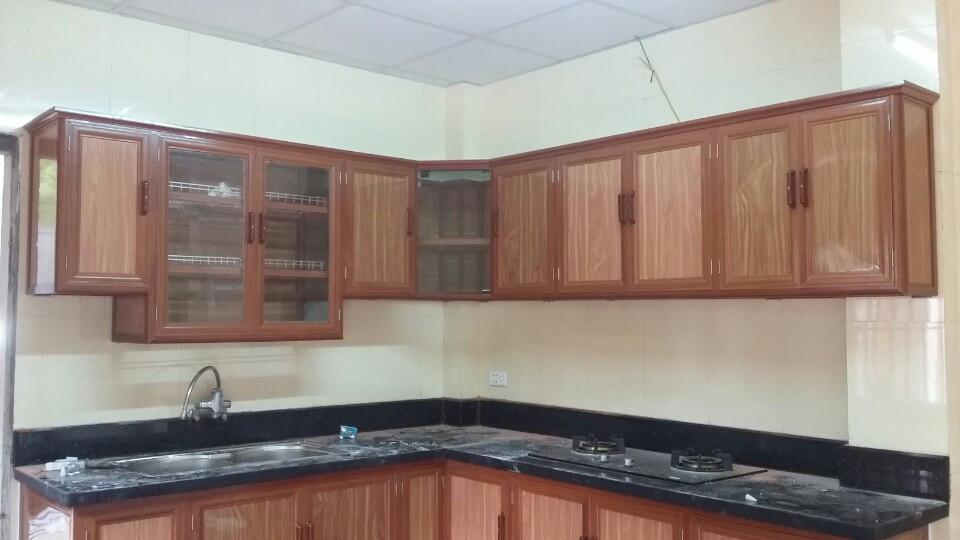 Thợ chuyên nhận làm tủ bếp nhôm kính giá rẻ