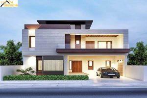 Nhà 2 tầng thiết kế độc đáo