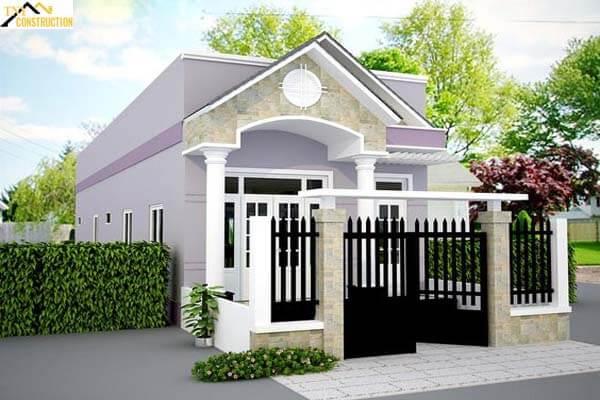Nhà 1 tầng thiết kế đơn giản
