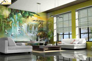 Tranh 3D tường phòng khách