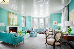 Sơn nhà màu xanh ngọc bích mang lại cảm giác mới lạ, thu hút người nhìn