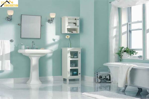 Nhà vệ sinh tươi mát hơn với màu xanh ngọc bích