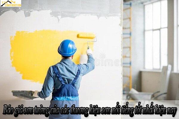 Báo giá sơn tường của các thương hiệu sơn nổi tiếng tốt nhất hiện nay