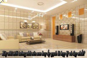 Xây nhà mới tường nhà nên sơn hay ốp gạch cho phù hợp với không gian