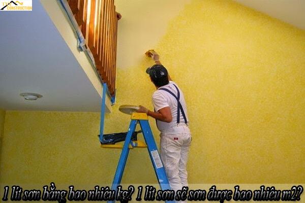 1 lít sơn bằng bao nhiêu kg? 1 lít sơn sẽ sơn được bao nhiêu m2?